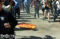 В Николаеве, Запорожье, Харькове произошли небольшие стычки на акциях ко Дню победы над нацизмом