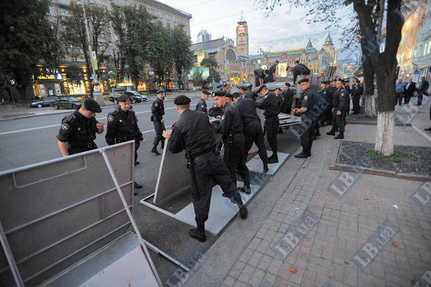 В последнее время бойцы отряда «Беркут» все чаще сопровождают общественные акции