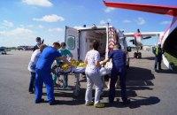 Літак рятувальників транспортував зі Запоріжжя до Києва 3-річну дівчинку