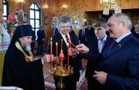 Порошенко и Лукашенко с сыном сходили в церковь в Беларуси