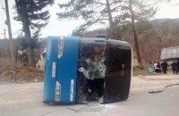 В Івано-Франківській області перекинувся автобус з паломниками