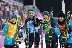 Біатлоністки преміальних за медалі в Сочі ще не отримали
