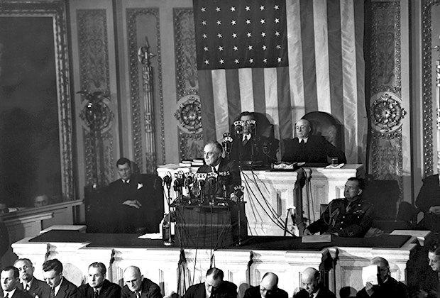 Виступ Рузвельта в Конгресі.
