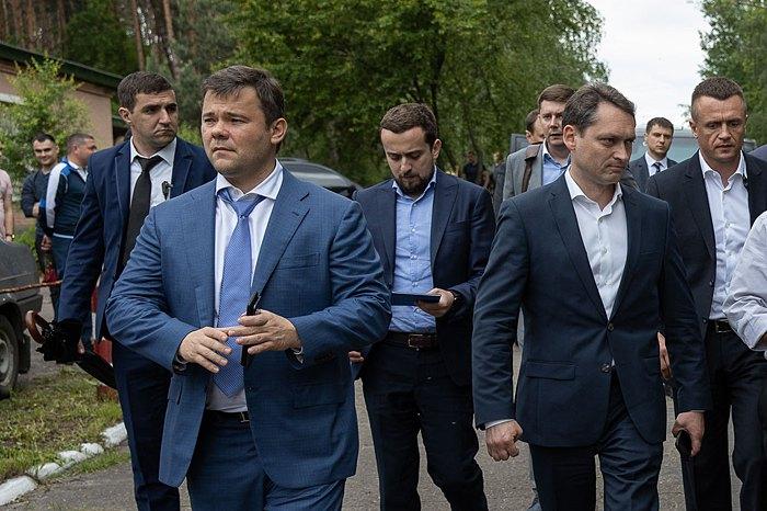 Андрій Богдан (зліва) під час робочого візиту до Львівської області на шахту *Лісова*