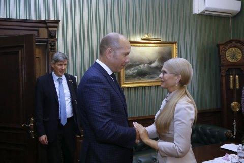 Тимошенко привітала нового голову Світового конгресу українців з обранням