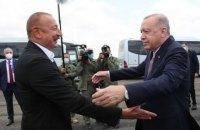 Ердоган першим зі світових лідерів відвідав повернуті Азербайджаном території в Нагірному Карабасі