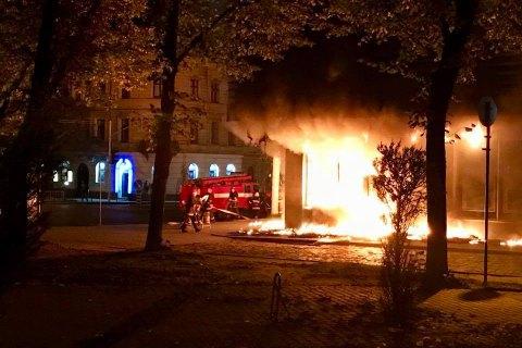ВоЛьвове сгорело отделение «Сбербанка»