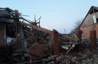 В поселке Новая Водолага возле Харькова взрыв газа разрушил частный дом