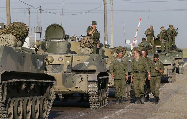 Солдады армии РФ в г.Каменск-Шахтинский, Ростовская область.