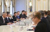 Зеленський зустрівся з послами G7, ЄС і НАТО