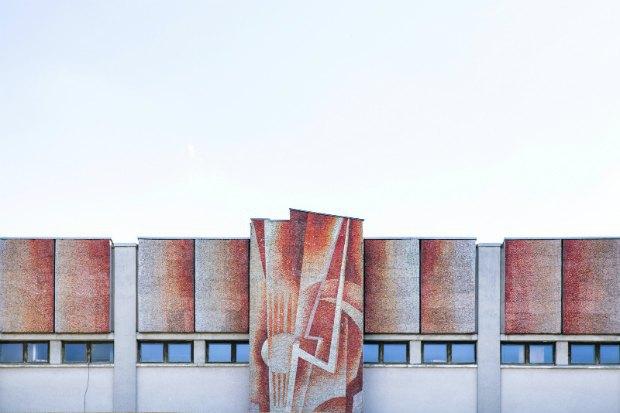 м. Житомир, кінотеатр «Жовтень», Зелена С., 1988–1989, смальтова мозаїка