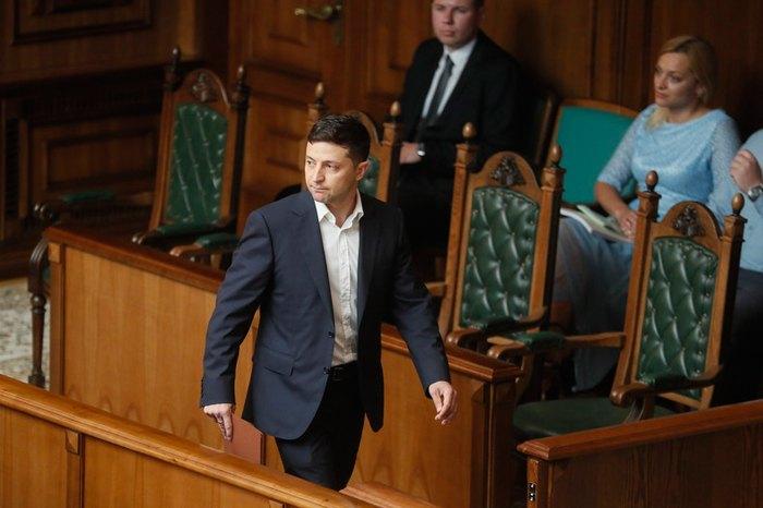 Володимир Зеленський під час засідання КСУ