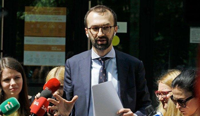 Сергій Лещенко під час брифінгу