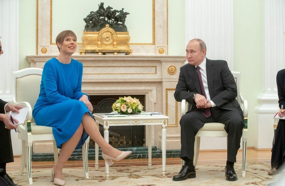 Зустріч Керсті Кальюлайд і Володимира Путіна в Москві