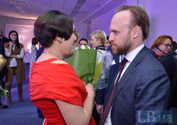 Замглавы Администрации Президента Украины Алексей Филатов и Соня Кошкина