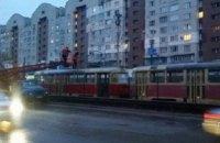 В Киеве остановился скоростной трамвай