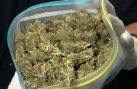 В Днепропетровске у 55-летней женщины изъяли 1,5 кг марихуаны