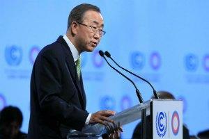 Пан Ги Мун призвал Россию бомбить только попавших в списки Совбеза террористов
