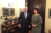 Яресько попросила сенатора Маккейна допомогти озброїти Україну