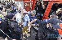 З території Шевченківського суду прогнали співробітників Шарія