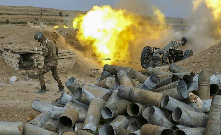 Солдати самопроголошеної Нагірно-Карабахської Республіки на лінії зіткнення