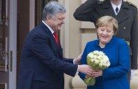 Ангела Меркель начала визит в Украину