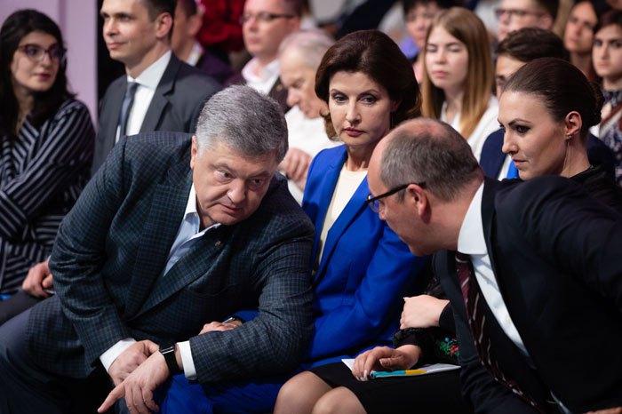 Під час з'їзду партіі *Європейська солідарність*