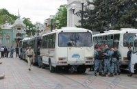 Милиция покидает Мариинский парк