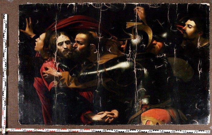 """Картину Караваджо """"Поцілунок Юди"""", яка постраждала від рук злодіїв у 2008 році, реставрують (фото)"""