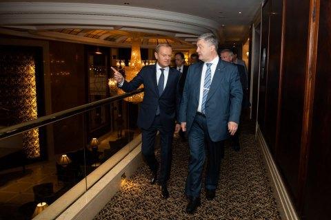 Порошенко после встречи с Туском: отраслевые союзы - основа дальнейшего прогресса Украины