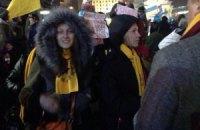Жена Левочкина была среди протестующих на Майдане