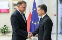 Зеленский начал визит в Польшу со встречи с Дудой