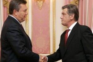 Янукович поздравил Ющенко с днем рождения