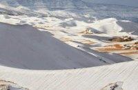 В Сахаре вновь выпал снег