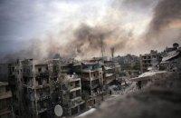 При бомбардировке занятых повстанцами районов Алеппо погибли 45 человек