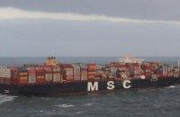 В Северном море сухогруз потерял контейнеры с ядовитыми химикатами