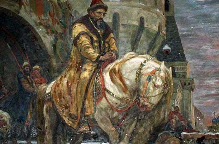 Картина Михаила Панина Тайный выезд Ивана Грозного перед опричниной, которую вернули в Днепропетровский художественный музей