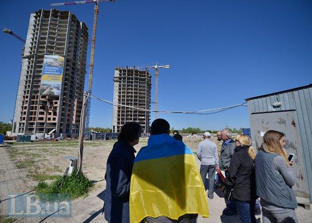 Акція проти забудови на Микільській Слобідці