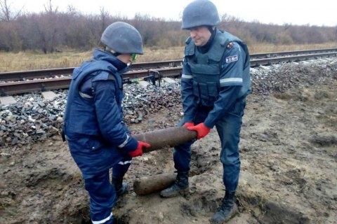 ВОдесской области рядом сжелезной дорогой найдено огромное скопление боеприпасов