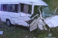 Во Львовской области столкнулись два микроавтобуса, есть погибший
