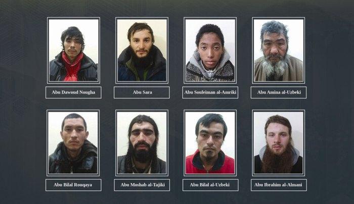 Иностранцы, пойманые солдатами YPG, которые воевали на стороне ИГИЛ