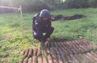 У сільському парку біля Вінниці знайшли понад 600 старих артилерійських снарядів
