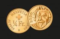 Швейцария выпустила самую маленькую в мире золотую монету