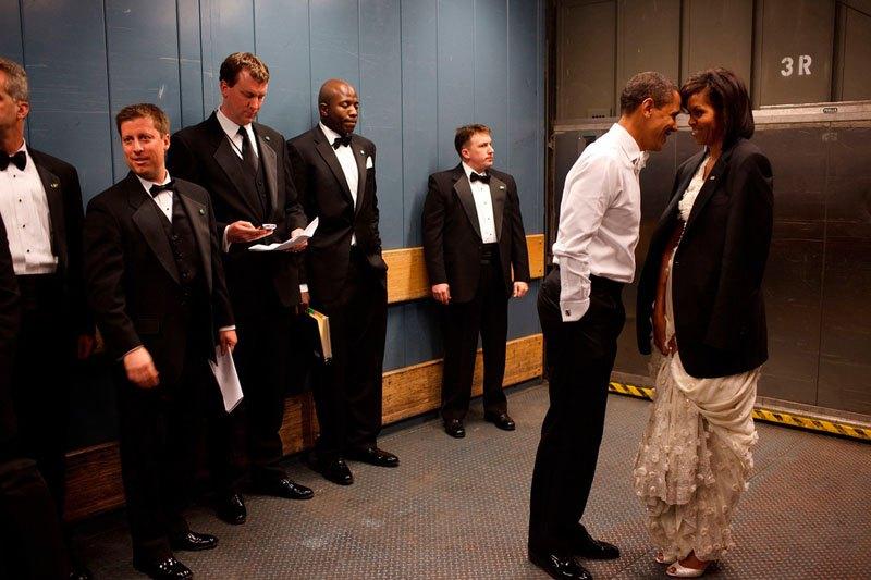 Барак и Мишель Обама перед инаугурацией. 20 января 2009 года