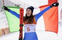 Итальянка Годжиа выиграла золото Олимпиады в скоростном спуске