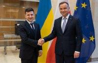 Зеленський розпочав візит до Польщі із зустрічі з Дудою