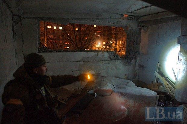 """Бойцы батальйона """"Днепр"""" во время ночного патрулирования города"""