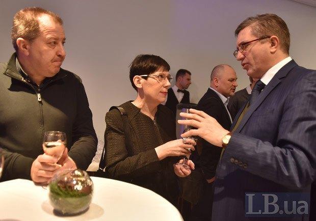 Слева направо: Сергей Дацюк, Наталья Лигачева и Тарас Петрив