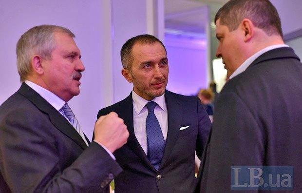 Слева направо: Андрей Сенченко, Андрей Пышный и Максим Бурбак