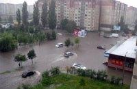 Луцк затопил сильный ливень